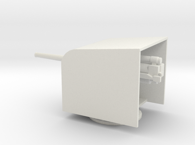 1/96 Scale British 4 Inch BF Mark IX with Shield in White Natural Versatile Plastic