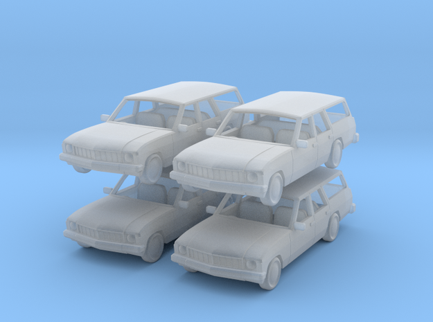 70s hx holden  stationwagon 1:120 in Smooth Fine Detail Plastic