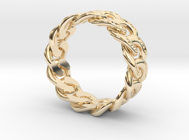 8.2mm Beaded Cuban Link Band in 14K Yellow Gold