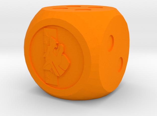 Clan Wolf Dice in Orange Processed Versatile Plastic