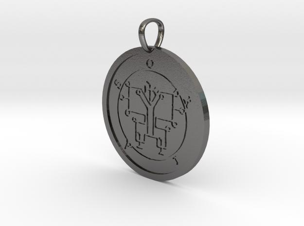 Oriax Medallion in Polished Nickel Steel