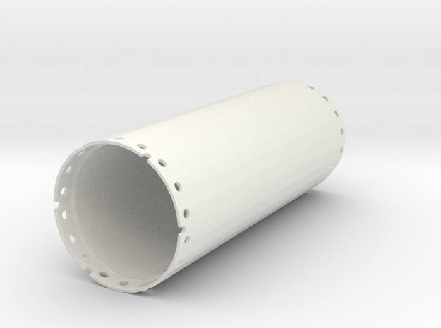 Casing joint 1500mm, length 4,00m in White Natural Versatile Plastic