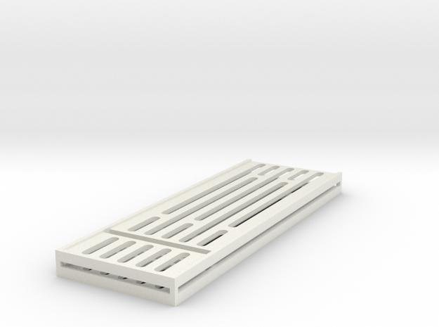 "Sci-Fi Walkway Internal Panel (Type A) 1/12 6"" in White Natural Versatile Plastic"