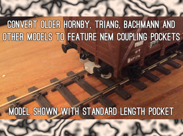 OO Scale NEM Standard Coupling Adapters x 32 in Smooth Fine Detail Plastic