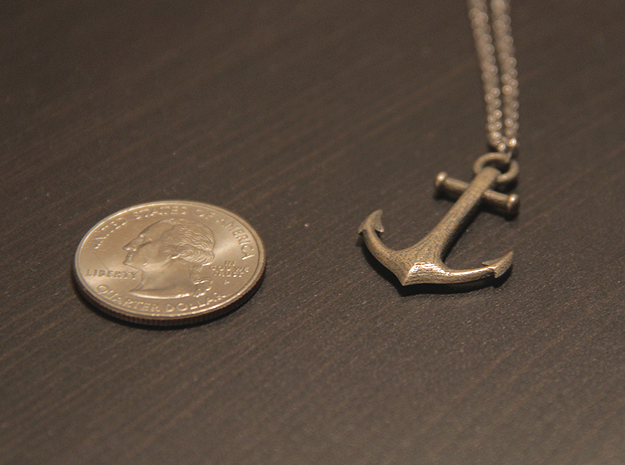 Anchor Necklace 3d printed Quarter for scale :)