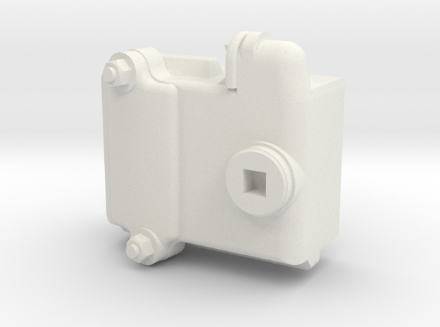 Hollow backed NSWGR 16AA Pullman Bogie Axleboxes 1 in White Natural Versatile Plastic