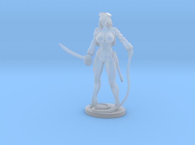 Major Kyra with Whip Mini  in Smooth Fine Detail Plastic