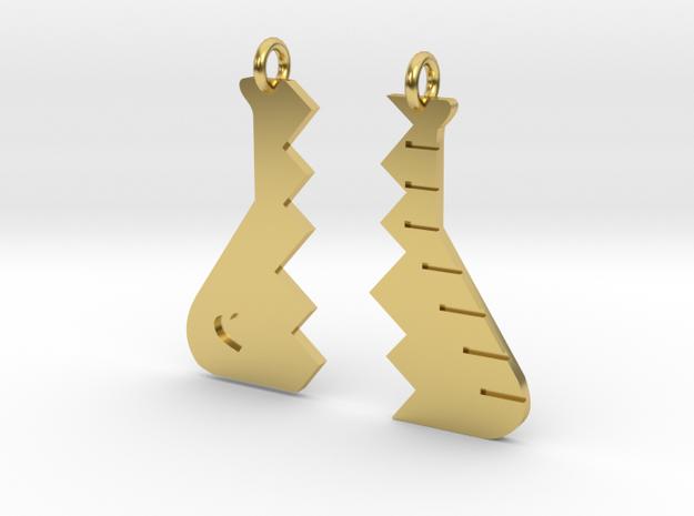 sisters in science beaker in Polished Brass