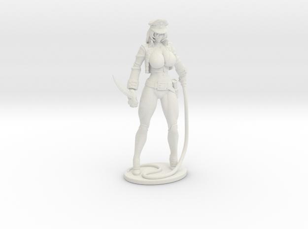 Major Kyra Figurine with Whip 150mm in White Premium Versatile Plastic