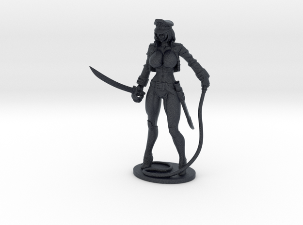 Major Kyra Figurine with Whip 200mm in Black PA12