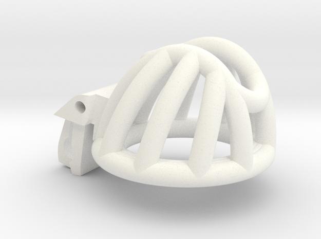 "Cherry Keeper ""Headlock"" Cage - Short Headlock in White Processed Versatile Plastic: Medium"