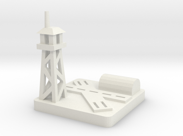 Airfield/Airbase in White Natural Versatile Plastic