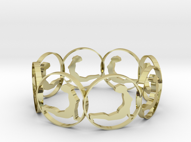 b  in 18k Gold Plated Brass