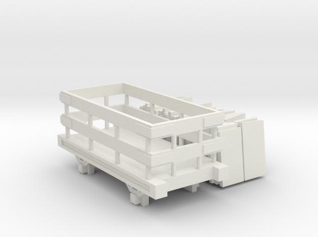 OO9 Slate Truck With Slate Load Talyllyn / SR in White Natural Versatile Plastic