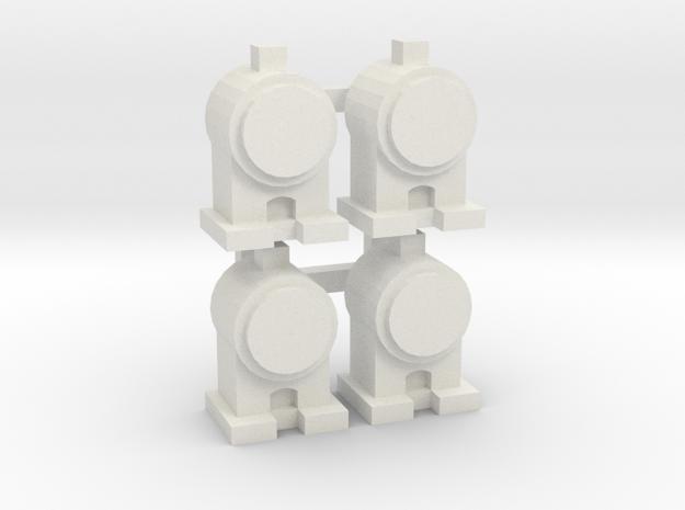 OO / HO Head Lamp x4 in White Natural Versatile Plastic