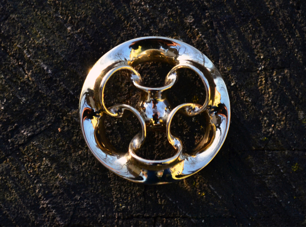 """Seven Rings""  in Polished Brass"