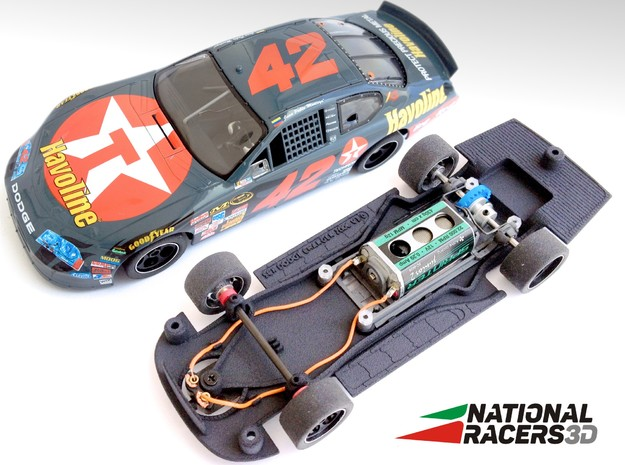 Chassis - SCX DODGE CHARGER 2006 (Combo) in Black Natural Versatile Plastic