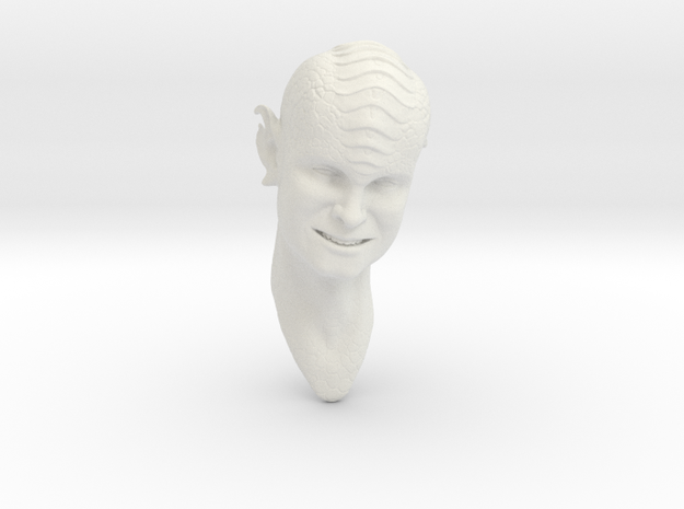 smiling blue alien 1/6 scale in White Natural Versatile Plastic
