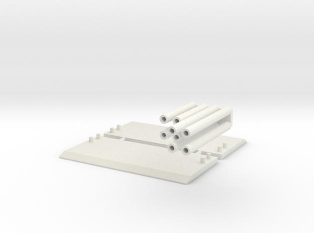 1:64 scale Trench Box  in White Natural Versatile Plastic