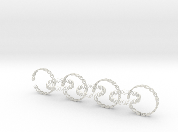 size 6 18.11 mm seven rings in White Natural Versatile Plastic