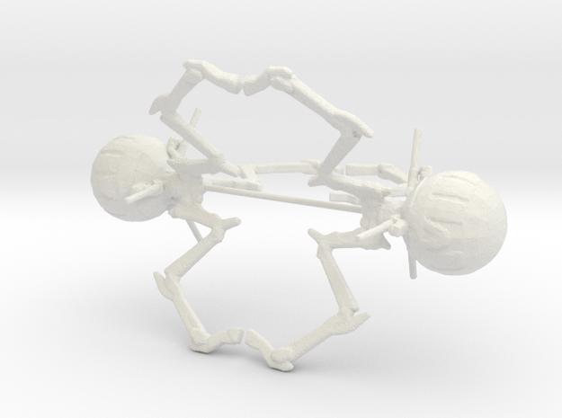 6mm Large Octopus Combat Robots in White Natural Versatile Plastic