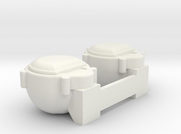 Tamiya Hummer HUMVEE M1025 Front Light Lamp Marker in White Natural Versatile Plastic