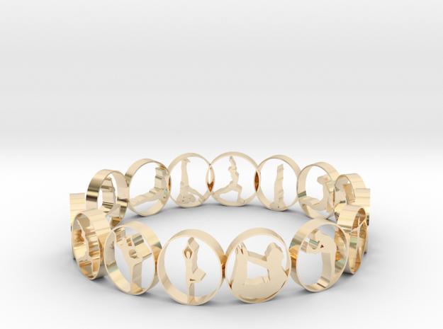 size 6 multi pose yoga ring in 14K Yellow Gold