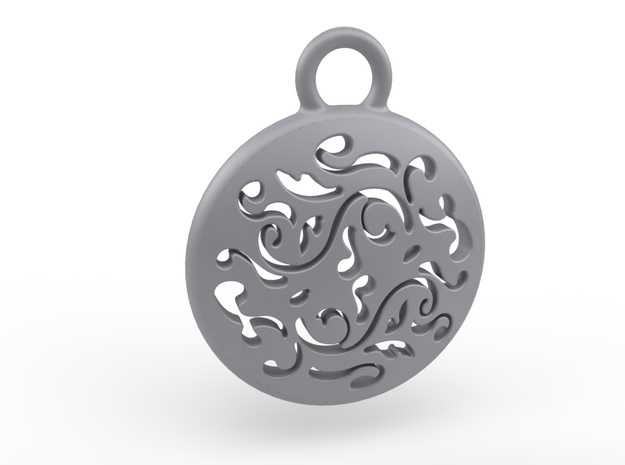 Filigree Earing in Polished Bronzed Silver Steel
