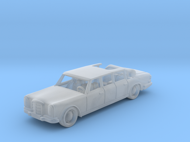 Mercedes 600 Pullman 1:87 HO in Smooth Fine Detail Plastic