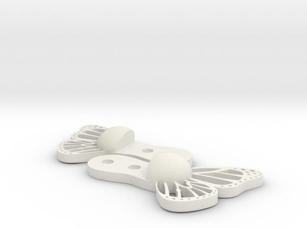Butterfly Snowboard wall mount - hanger  in White Natural Versatile Plastic