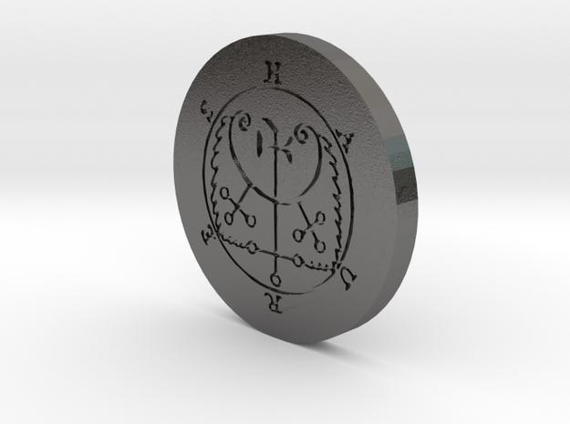 Haures Coin in Polished Nickel Steel