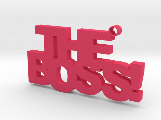 The Boss Keychain in Pink Processed Versatile Plastic