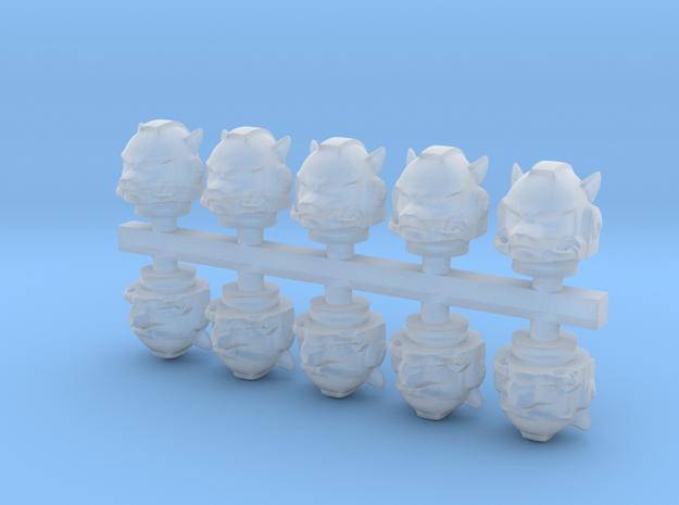 Marine_mkwolf_helmet_x10 in Smooth Fine Detail Plastic