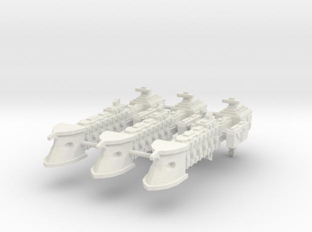 Fragata clase Falchion x3 in White Natural Versatile Plastic