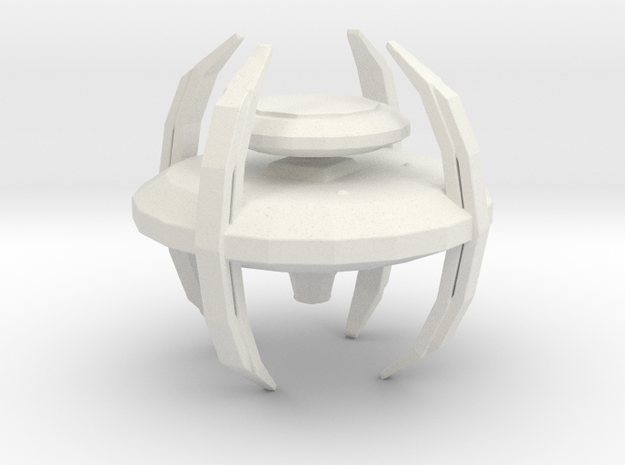 Cardassian Defense Platform in White Natural Versatile Plastic