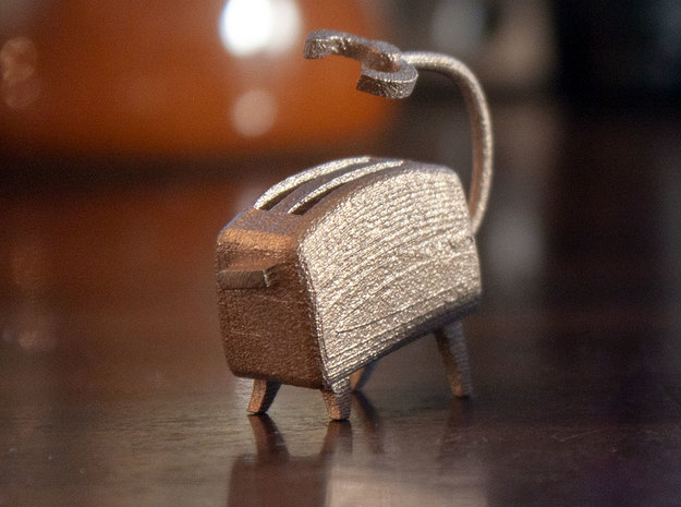 Toasty [Battle Stance] in Polished Bronzed-Silver Steel