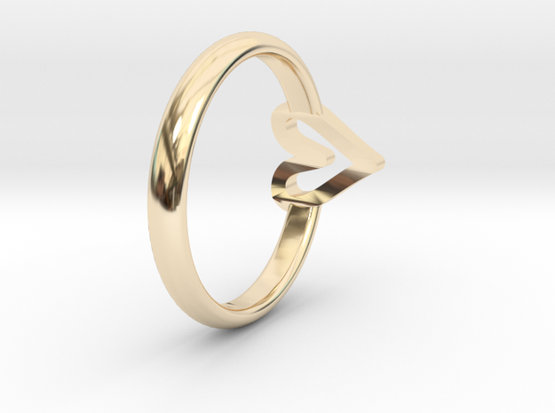 ring hearth size 6 in 14k Gold Plated Brass