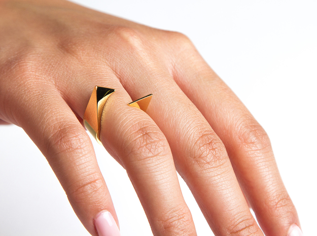 Ring - Kittii in 14k Gold Plated Brass: 6 / 51.5
