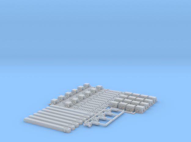 Transfer Bridge Parts - S Scale in Smooth Fine Detail Plastic