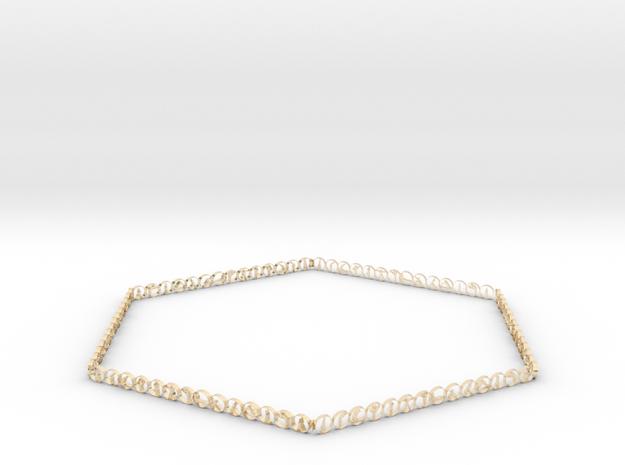 Hexagonal yoga bracelet in 14K Yellow Gold