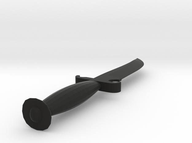 CS:GO Default Terrorist Knife Full Scale in Black Natural Versatile Plastic