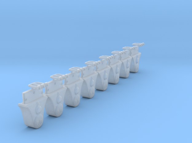 AB01a Festiniog Railway Plain Axleboxes (x8) SM32 in Smooth Fine Detail Plastic