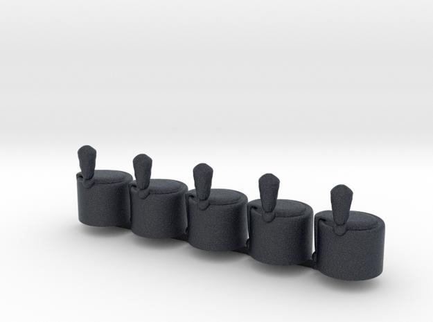 5 x Hussar V2  in Black Professional Plastic