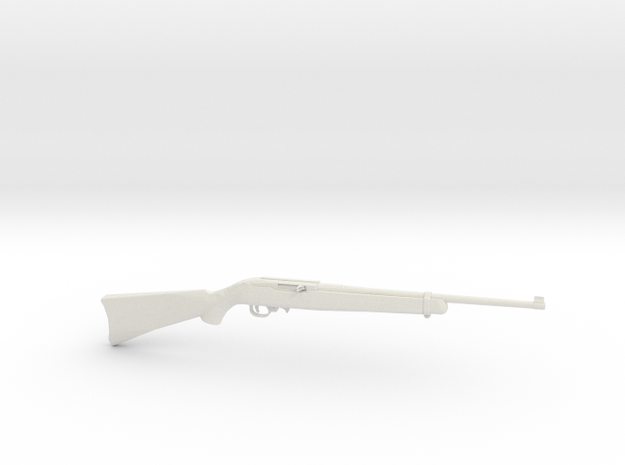 1:6 Miniature Ruger 10/22 Gun in White Natural Versatile Plastic