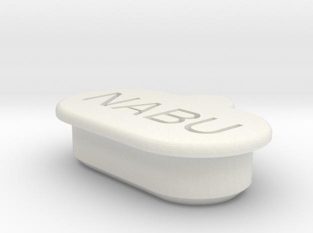 Garmin fenix 5 rear connector cap in White Natural Versatile Plastic