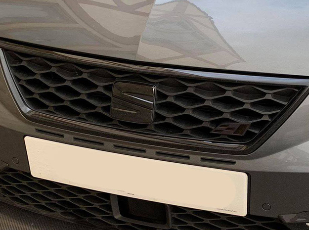 Cupra Flag Grill Replacement 70mm (Large) in White Natural Versatile Plastic