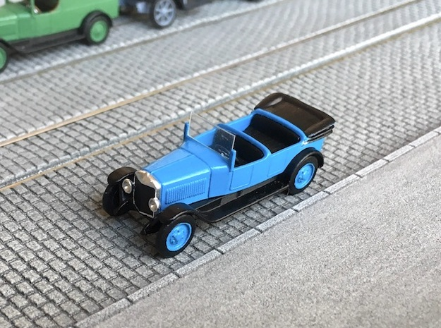 1:87 Unic L roadster 1922 in Smooth Fine Detail Plastic
