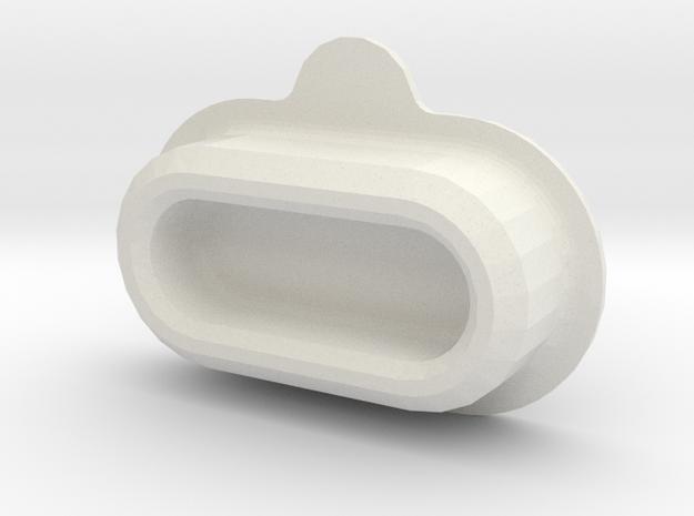 Garmin fenix 5 rear connector cap (your engraving) in White Natural Versatile Plastic