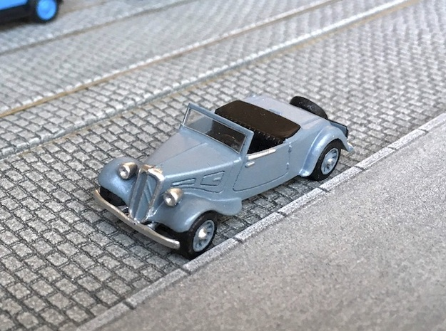 1:87 Citroen Traction roadster 1934 in Smooth Fine Detail Plastic