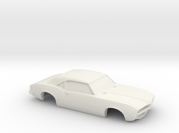 1/32 1967-69 Pontiac Firebird Shell in White Natural Versatile Plastic